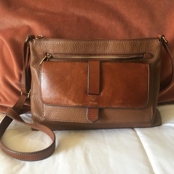 Fossil Handbags - Kinley Medium Glazed Pebbled Leather Crossbody